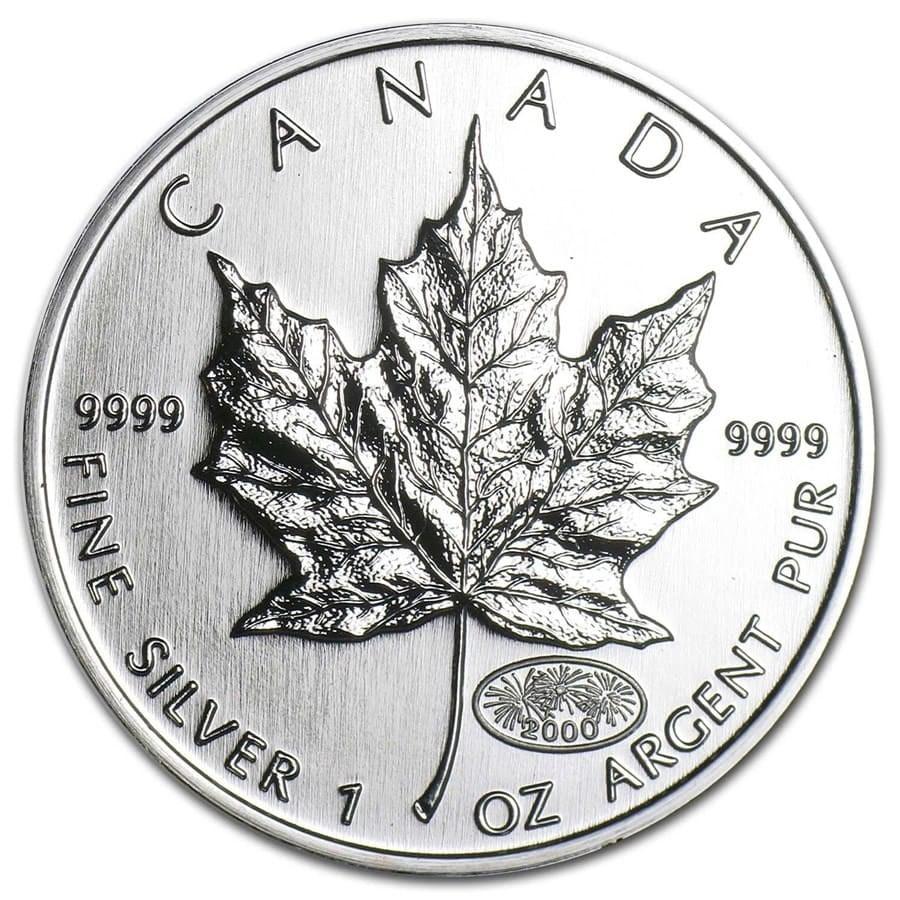 2000 Canada 1 oz Silver Maple Leaf BU