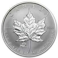 2000 Canada 1 oz Silver Maple Leaf Lunar Dragon Privy