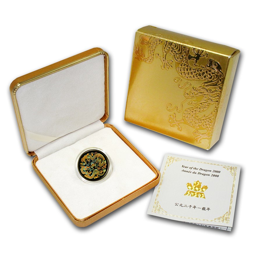 2000 Canada Gold $150 Dragon (Hologram w/Box & COA)