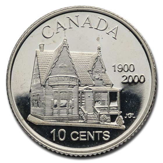 2000 Canada Silver $0.10 100th Credit Union Pf (Original RCM Pkg)