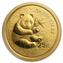 2000 China 1/4 oz Gold Panda Frosted BU (Sealed)