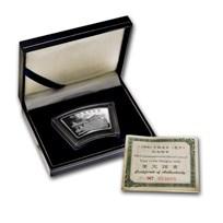 2000 China 1 oz Silver Fan Year of the Dragon (w/Box & COA)