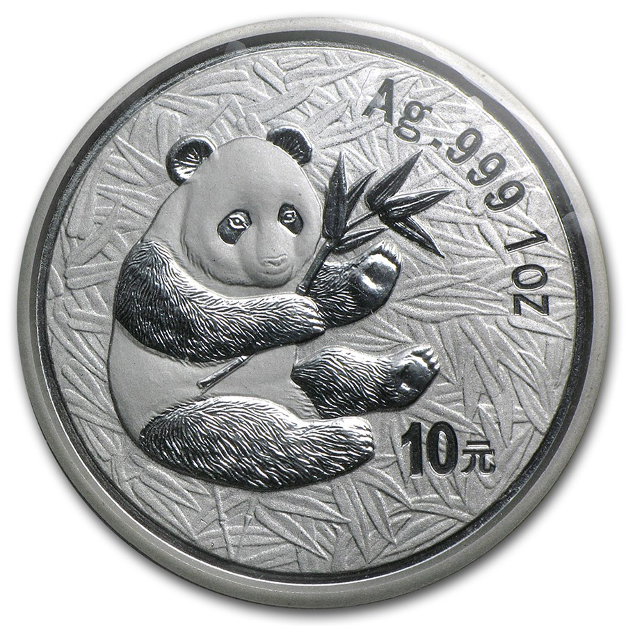 2000 China 1 oz Silver Panda Frosted BU (Sealed)