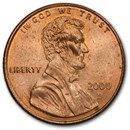 2000-D Lincoln Cent BU (Red)