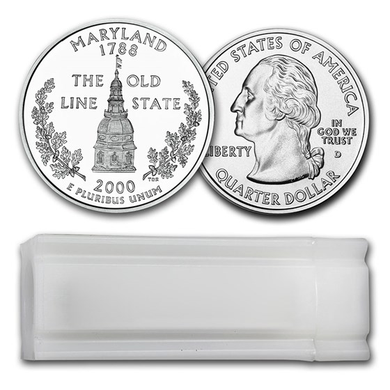 2000-D Maryland Statehood Quarter 40-Coin Roll BU