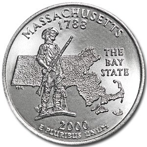 2000-D Massachusetts State Quarter BU