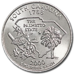 2000-D South Carolina State Quarter BU