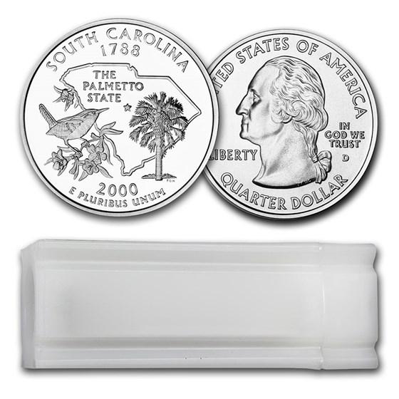 2000-D South Carolina Statehood Quarter 40-Coin Roll BU