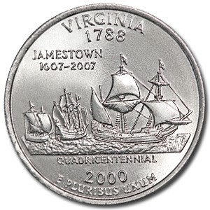 2000-D Virginia State Quarter BU