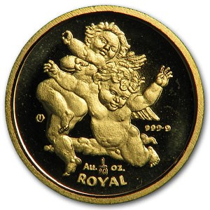 2000 Gibraltar Gold 1/10 Royal Colliding Cherubs BU