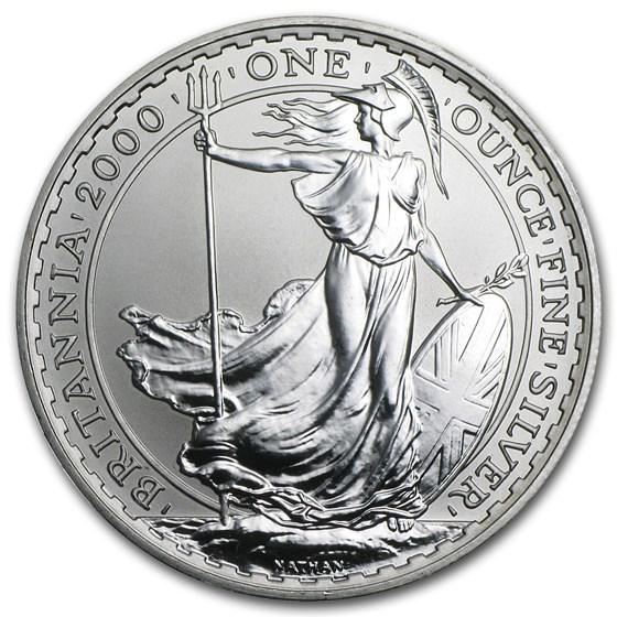 2000 Great Britain 1 oz Silver Britannia BU