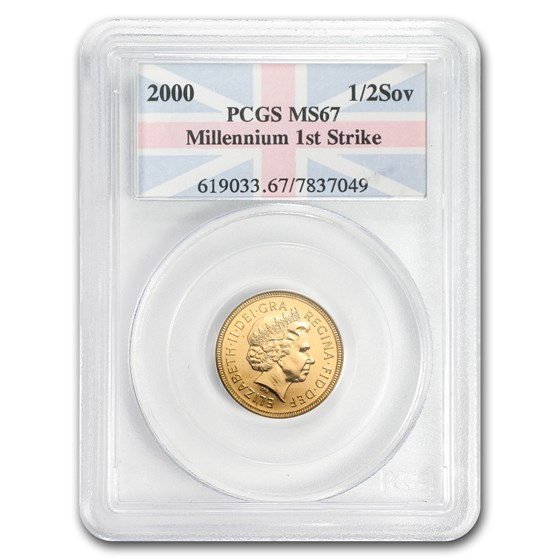 2000 Great Britain Gold 1/2 Sovereign MS-67 PCGS (FirstStrike®)