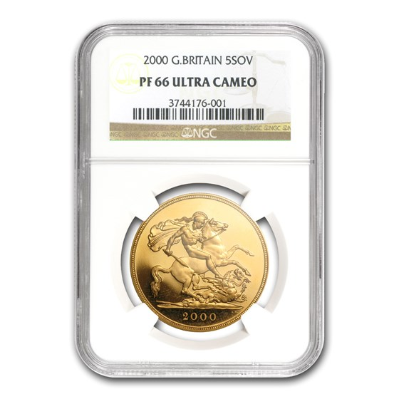 2000 Great Britain Gold £5 Sov PF-66 NGC