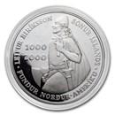 2000 Iceland Leif Ericson 1,000 Kronur Silver Prf (Capsule only)