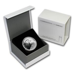 2000 Israel Silver 1 NIS Wild Goat & Shittah Tree PL (w/Box)