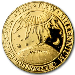 2000 Kiribati $50 Gold Millennium Proof
