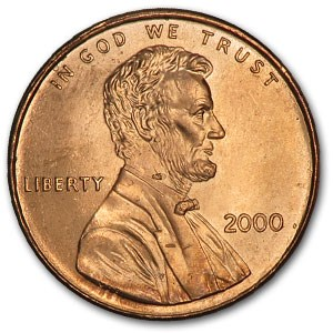 2000 Lincoln Cent BU (Red)