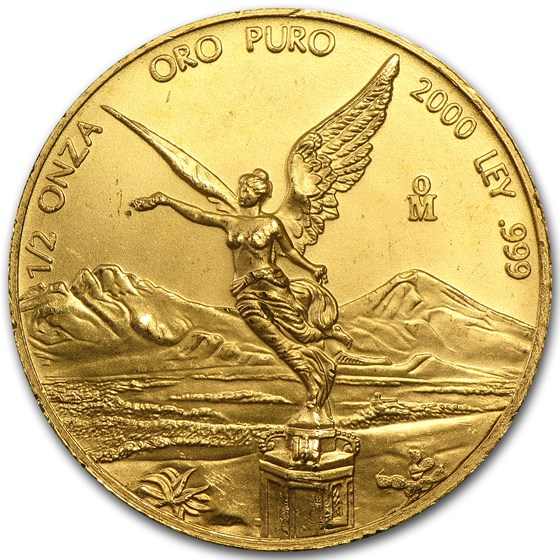 2000 Mexico 1/2 oz Gold Libertad BU