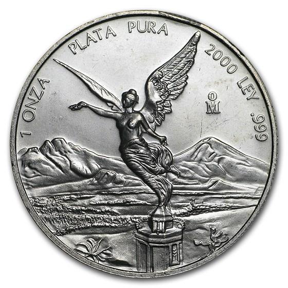 2000 Mexico 1 oz Silver Libertad BU (Abrasions)