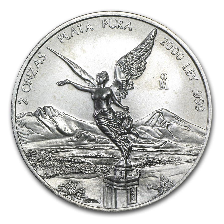 2000 Mexico 2 oz Silver Libertad BU