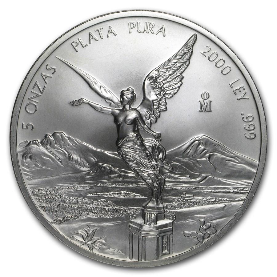 2000 Mexico 5 oz Silver Libertad BU