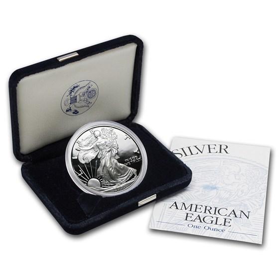 2000-P 1 oz Proof American Silver Eagle (w/Box & COA)