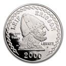 2000-P Leif Ericson $1 Silver Commem Proof (Capsule only)