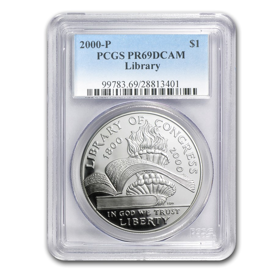 2000-P Library of Congress $1 Silver Commem PR-69 PCGS