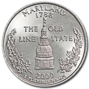 2000-P Maryland State Quarter BU