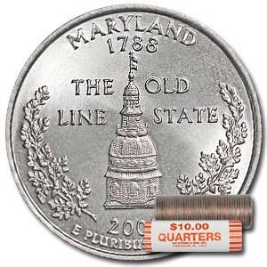 2000-P Maryland Statehood Quarter 40-Coin Roll BU