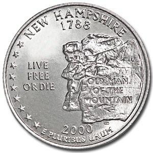 2000-P New Hampshire State Quarter BU