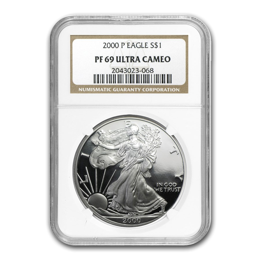 2000-P Proof American Silver Eagle PF-69 NGC