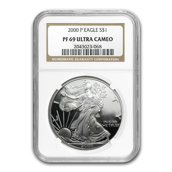 2000-P Proof Silver American Eagle PF-69 NGC
