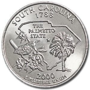 2000-P South Carolina State Quarter BU