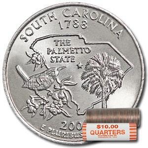 2000-P South Carolina Statehood Quarter 40-Coin Roll BU