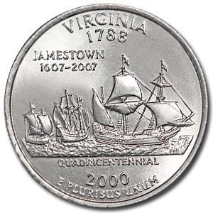 2000-P Virginia State Quarter BU