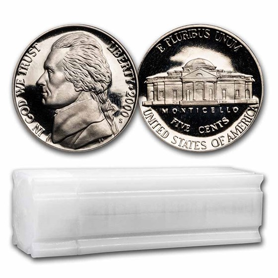 2000-S Jefferson Nickel 40-Coin Roll Proof