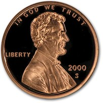 2000-S Lincoln Cent Gem Proof (Red)