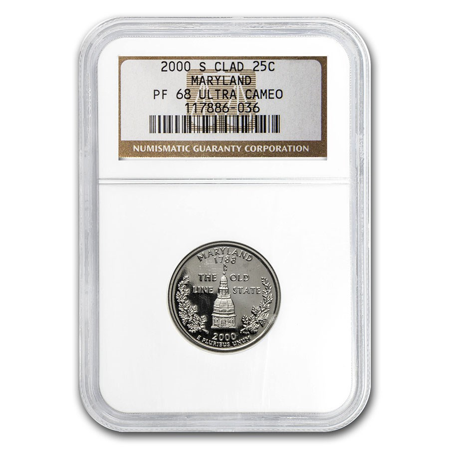 2000-S Maryland State Quarter PF-68 UCAM NGC