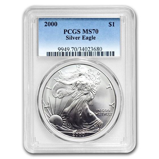 2000 Silver American Eagle MS-70 PCGS