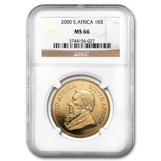 2000 South Africa 1 oz Gold Krugerrand MS-66 NGC
