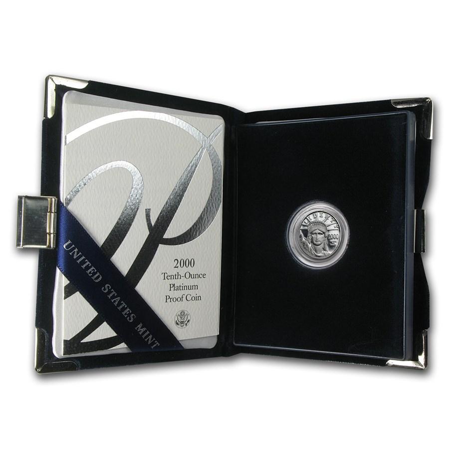2000-W 1/10 oz Proof Platinum American Eagle (w/Box & COA)