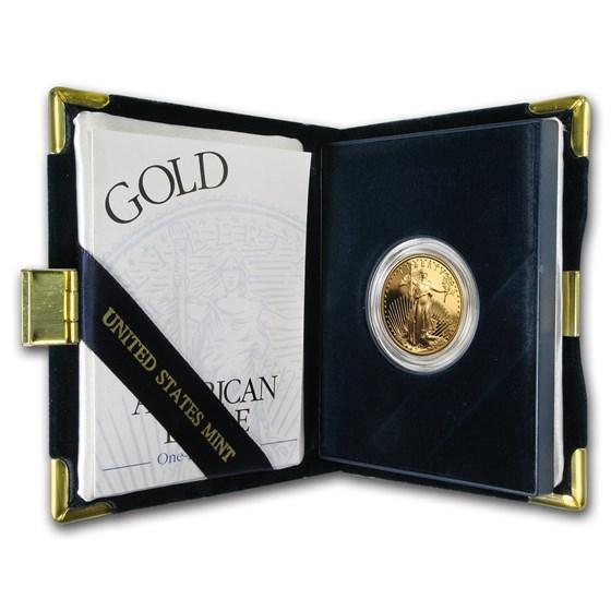 2000-W 1/2 oz Proof American Gold Eagle (w/Box & COA)