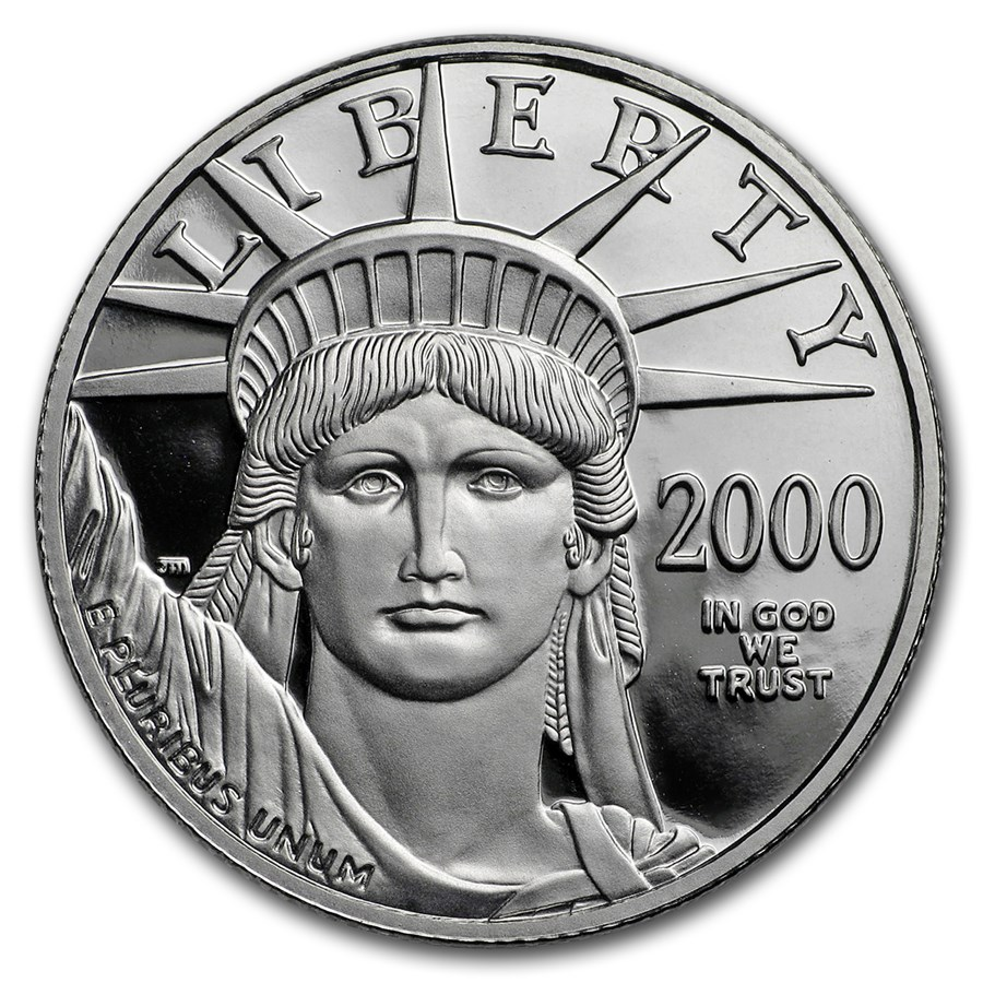 2000-W 1/2 oz Proof American Platinum Eagle (Capsule Only)