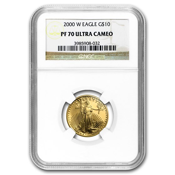 2000-W 1/4 oz Proof American Gold Eagle PF-70 NGC