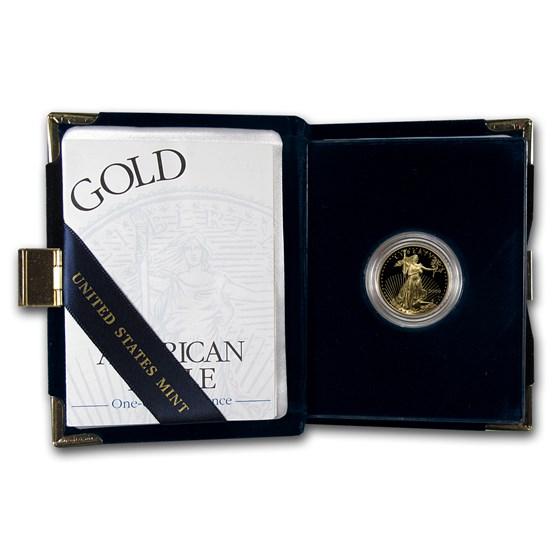 2000-W 1/4 oz Proof American Gold Eagle (w/Box & COA)