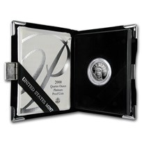 2000-W 1/4 oz Proof American Platinum Eagle (w/Box & COA)