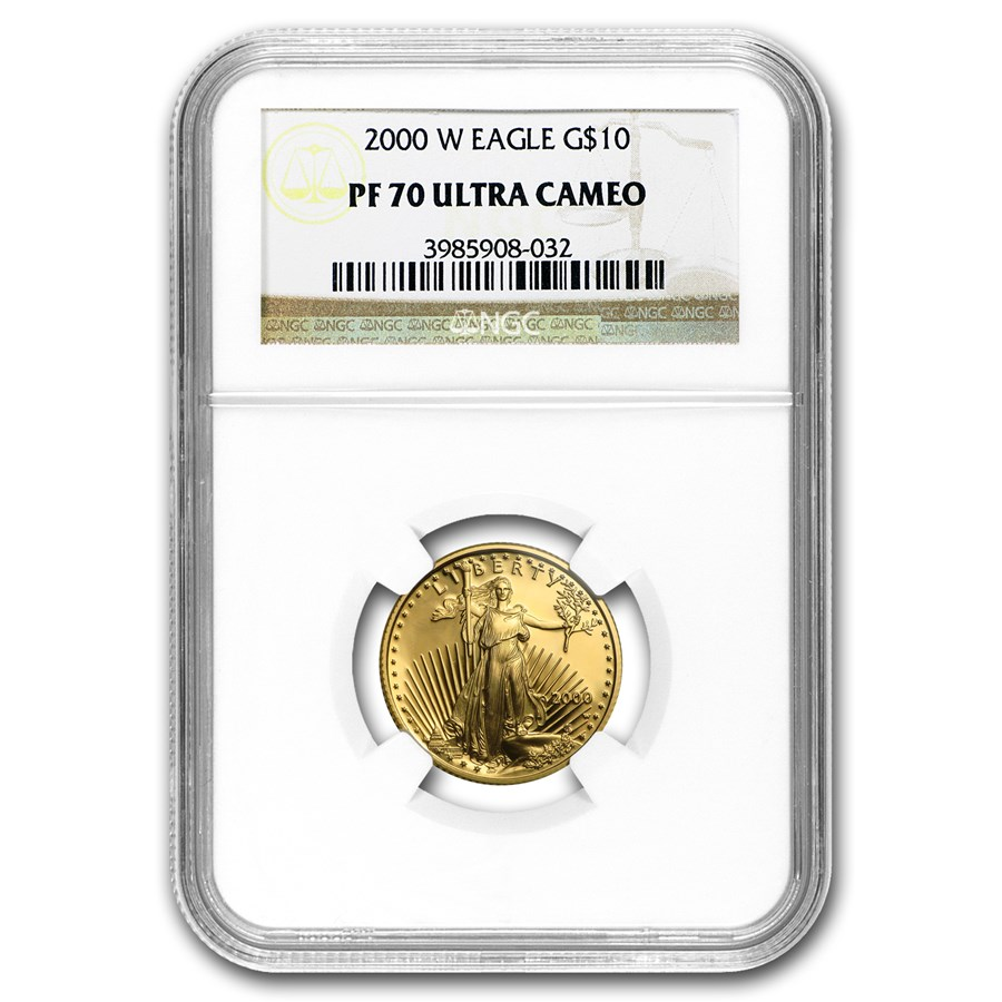 2000-W 1/4 oz Proof Gold American Eagle PF-70 NGC