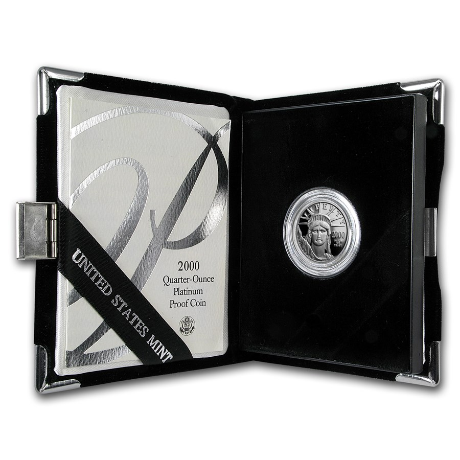 2000-W 1/4 oz Proof Platinum American Eagle (w/Box & COA)