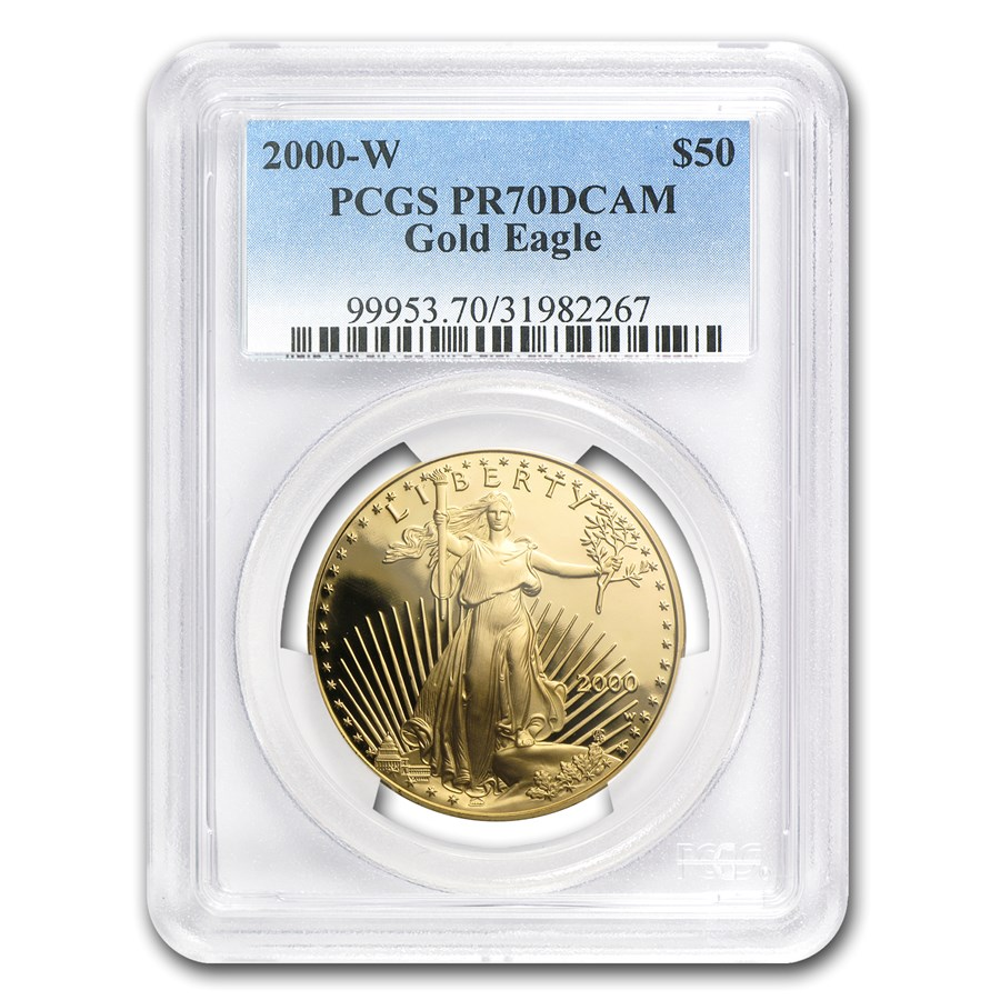 2000-W 1 oz Proof American Gold Eagle PR-70 PCGS